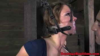 Submissive tattooed milf getting whipped