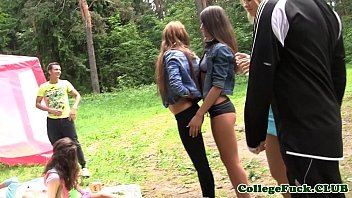 College babes assfucked after stripping 7 min