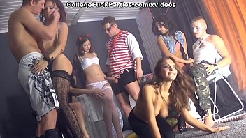 Wild student sex friends party on Friday 13th scene 1