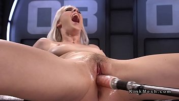 All natural blonde spread legs for fucking machine  #240535