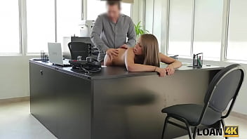 LOAN4K. Tender creature has unexpected dirty sex in the loan office