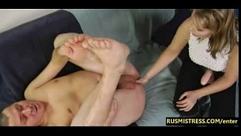 Prostate massage with hot Russian Mistress