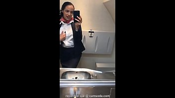Vasectomy and masturbation Latina stewardess joins the masturbation mile high club in the lavatory and cums
