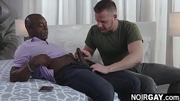 White and black gay daddies fucking - gay interracial sex