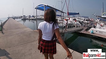 Amateur Thai Teen Cherry In Sexy Uniform Fucked By A Big White Dick