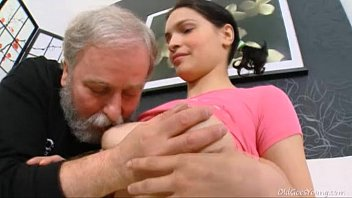 Big old hairy snatch Diana moans when old dude licks her hairy pussy