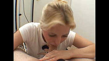 Blonde knows how to suck cock
