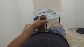 Playing with my dick and moaning hot