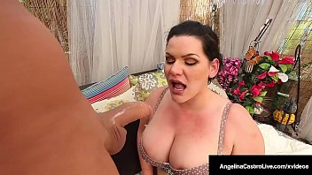 Cuban Cock Sucker Angelina Castro Stuffs Mouth With Stranger