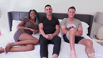 Marcos Wrecks Adam's Tight Ass With His Huge Uncut Euro Cock While Destiny Cums From Her Toy!