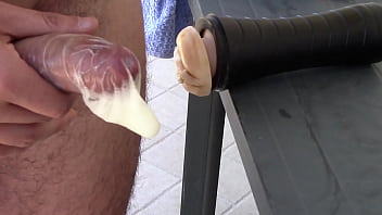 Fleshlight Huge Condom Creampie