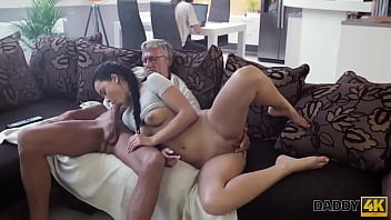 DADDY4K. Sweet old brunette taboo sex ends with cum in mouth 10 min