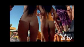 Sexy young bikini chicks - Lmfao party with 100 nude chicks