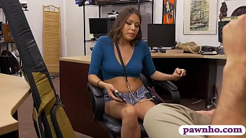 Sexy babe drilled by nasty pawn keeper in the backroom
