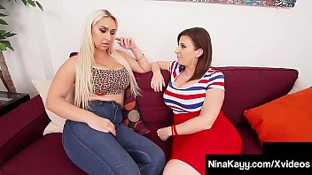 BBC Sharing Sweethearts, Nina Kayy & Sara Jay Milk Dark Dick