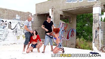 Streaming Video Lets Fuck Outside - They Brings Two Hot Babes To Fuck In Ruins - XLXX.video
