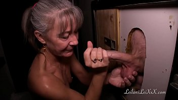 Milf visits glory hole for first time porn image