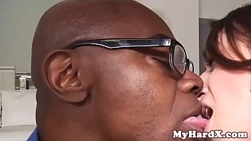 Young beauty assfucked by black stepdad