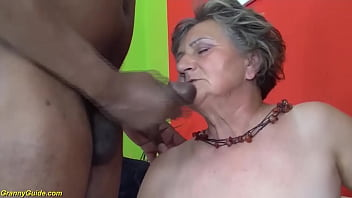 first interracial for ugly 82 years old grandma