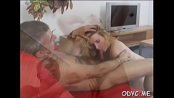Chopper handles a swingeing young blonde bombshell Gabby with impressive natural tits