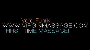 First time massage and orgasm of Vera Funtik