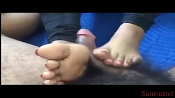 CHENNAI Daughter gives BEST Footjob NICE HANDJOB CUM OUT