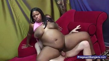 Getting pregnant porn fetishes - Pregnant black girl getting white cock