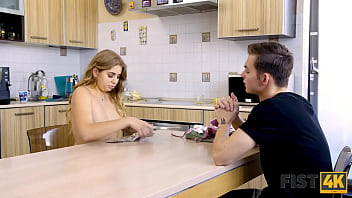 FIST4K. Chick surprises her buddy allowing him to bang and fist cunt 10 min
