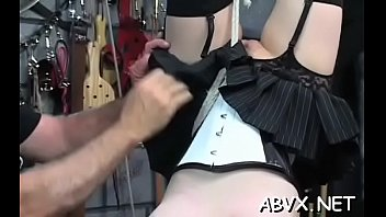 Free online spank In natures garb woman bizarre bondage at home with horny man
