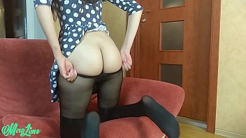 She masturbate after work and played with butthole