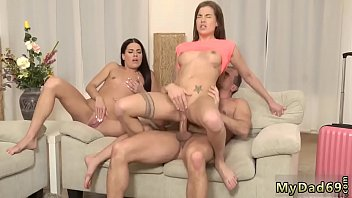 Old man fuck young girl Mom's two compeer's daughters getting crazy