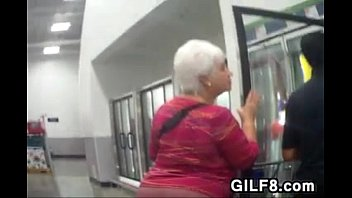 Grandmas Big Ass Walking Around At A Store