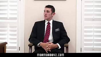 Mormonboyz - Handsome Priest Leader Gets Fucked By Young Boy In Office