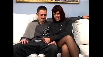 Redhaired MILF Rubee Tuesday was so satisfied with service quality provided by young guy so she proposed him full time job