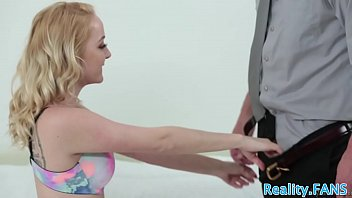 Real stepdaughter pussyfucked from behind