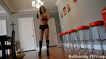 Kicked in the balls by a bratty schoolgirl