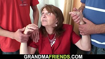 Hairy old mature double fuck