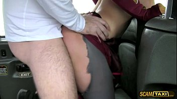 Slutty lady sucks a big dick and fucked hard in the cab