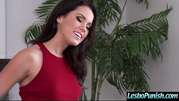 Hot Lez Girl (megan&shy) Get Punish By Mean Lesbo With Dildos clip-29