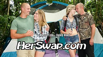 Alyssa and Haley Bang In the woods eachother Pop's