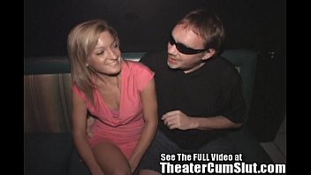 Petite Girl Has Group Sex in a Seedy Porn Theater