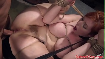 Box tied sub deepthroats cock after fucking 1