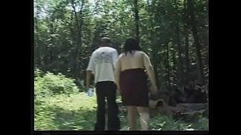 Salacios chubbette with raven hair and huge boobs Elena got her pussy well jammed with hard pole and face whitewashed by her shagger in the wood
