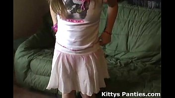 Asian girl with hello kitty panties Petite teen kitty in a cute little pink skirt