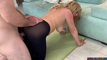 Stepmom lets her stepson fuck her while she exercises so he doesn't watch porn