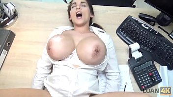 LOAN4K. Hot Mischel Lee has to pay for her boobs so she uses them