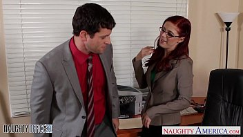 Naughty secretaries getting fucked - Redhead cutie in glasses penny pax fuck in the office