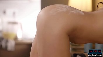 Amazing body MILF gets naked after a baking session