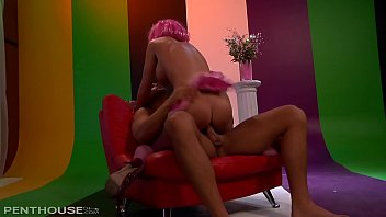 Pink Haired Busty Dreamgirl Kiera King Cums Hard on a Big Cock