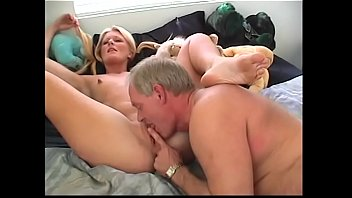 aged stud fucked and creamed young blonde chick leigh brooke after she had knocked the dust off the old sombrero